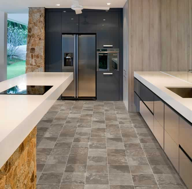 Carefree sheet vinyl flooring is PERFECT for kitchens It