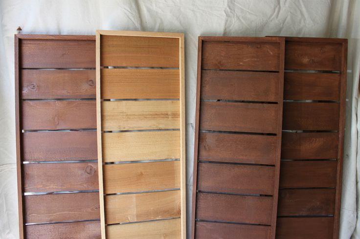 Modern Cedar Shutters - LOVE these