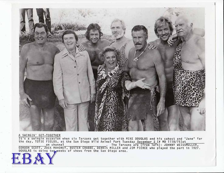 Barechested Tarzan's Mike Douglas Show VINTAGE Photo Johnny Weissmuller | eBay