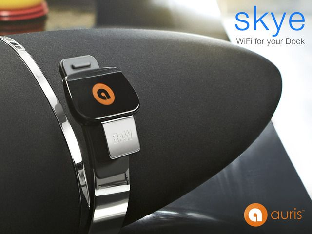 auris skye: WiFi for your Dock by Auris, Inc. — Kickstarter.  A WiFi receiver for your music dock enabling you to stream music wirelessly from iPhone, iPad, Android or Mac/PC using AirPlay or DLNA.