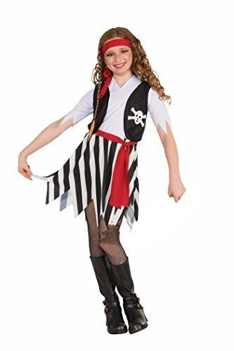 Buccaneer costume for girls Dress with attached vest and belt (Boots not included) Child small best fits children 35 to 45-pounds up to 45-Inch tall From funny to frightening Forum has it all