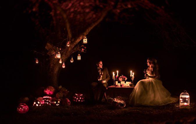 Decor de toamna pentru sedinta foto trash the dress (Autumn decor for Trash the dress photo shooting)  Tema/ Theme: Fall in love
