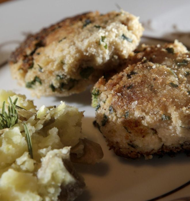 """This recipe is adapted from """"I Love Crab Cakes!"""" by Tom Douglas (William Morrow, 2006). It is best with blue crab from the Chesapeake Bay, but that is available in local fish markets only rarely. Look for it beginning in May. Otherwise, a high-quality canned lump crab is acceptable."""