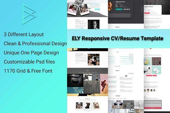 CV, Resume, vCard & Portfolio PSD  @creativework247