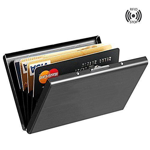Stainless Steel RFID Credit Card Holder - Unisex RFID Credit Card Wallet   Perfectly blocks unwanted RFID scanners, Lightweight & easy to carry in your pocket or bag, Small but sturdy - the high quality stainless steel makes this wallet more durable than plastic
