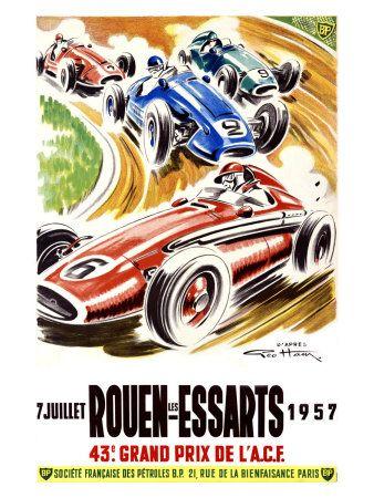 Affiche Rouen Les Essarts 1957                                                                                                                                                                                 Plus