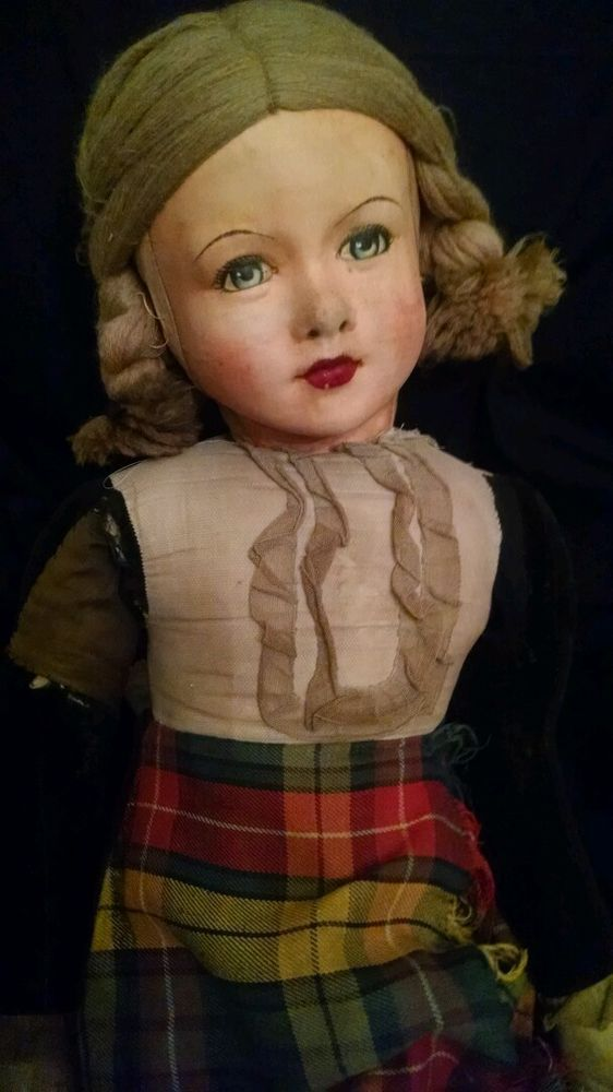 RARE Vintage DEANS RAG DOLL- LARGE 40 INCHES** OLD 1920 s Excellent ALL ORIGINAL