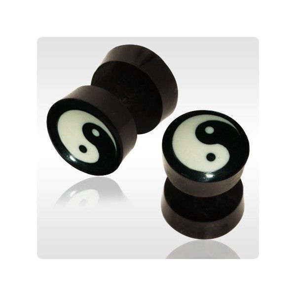 fake Gauge Plugs in Ears | ... Items: - Organic Plugs > Fake Plugs Piercing > Faux Ear Gauges