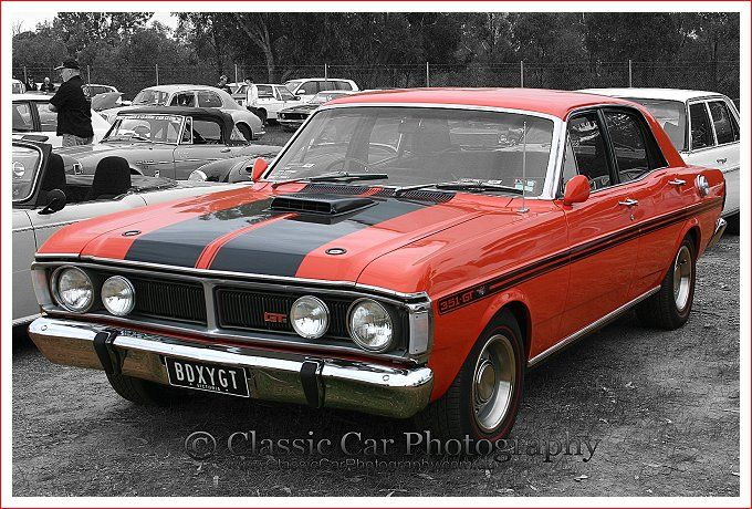 Ford Falcon XY GT at Sandown - Red Car Collection from Classic Car Photography