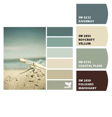 Paint colors from Chip It! by Sherwin-Williams... This is the color palate I want to use to paint my house (exterior).. and I'm certain I misspelled pallette... palette... palate... one of them is right! :D