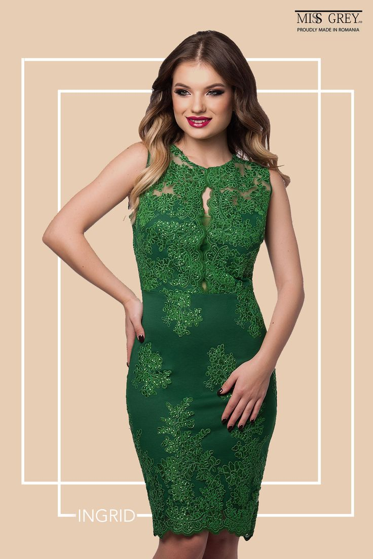 Ingrid Green Dress is the best option for the most events. The handmade sequins embroidery in a vibrant color will attract all eyes on you!