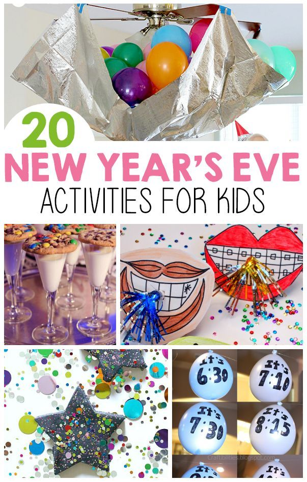 Having the kids on New Years Eve doesn't mean you can't celebrate, here are 20 activities you can do with them!