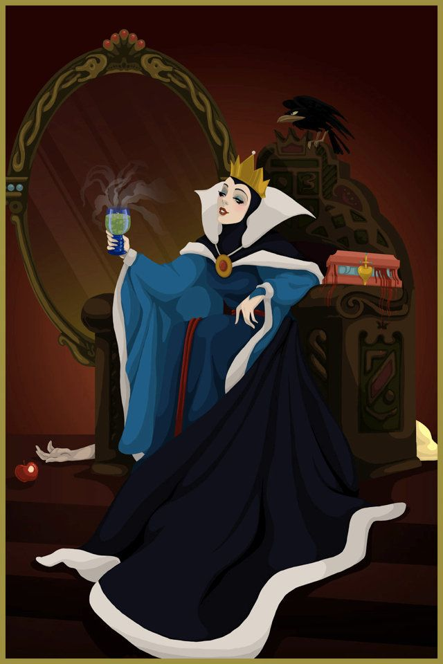 This is a small series of digital paintings by artist Justin Turrentine called 'Happy Endings for Disney Villains'. It features (you'll never guess!) illustrations of Disney villains if they'd come out on top and not had their plans foiled by much younger, more attractive princesses.