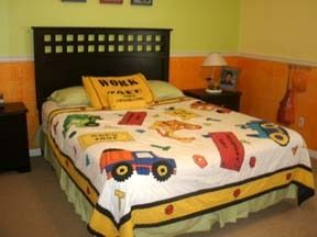 construction trucks kids twin size quilt bedding set for boys bedroom twin kid and quilt. Black Bedroom Furniture Sets. Home Design Ideas
