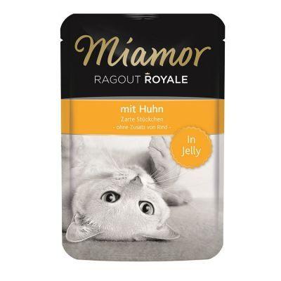 Miamor Ragout Tavuklu  Yetişkin kediler için tam mama Miamor Ragout jöle içinde sunulan, kedinizin ağzına layık bir mamadır. Vitaminlerini kaybetmemesi için özel işlem uygulanmıştır. Koruyucu ya da renklendirici içermez