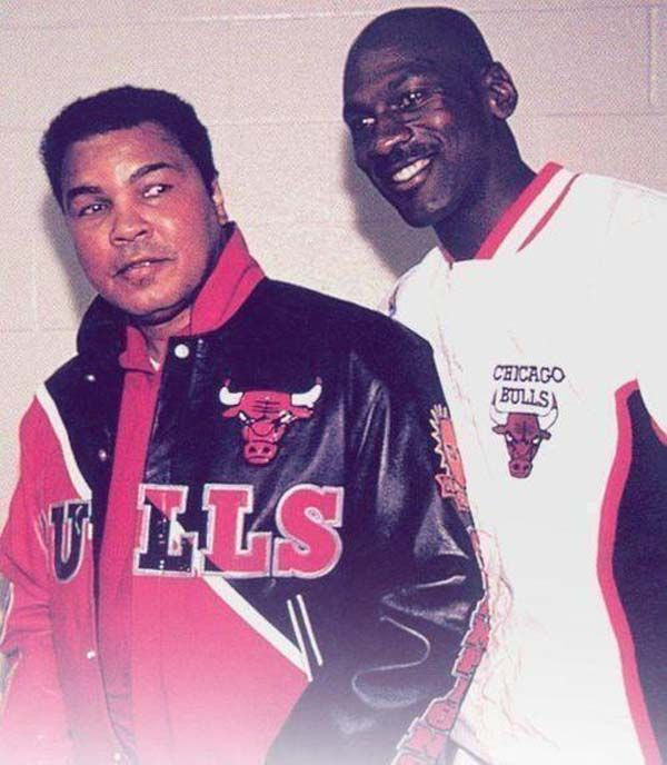 """Mohammad Ali and Michael Jorday (1992). """"Here Are 45 Rare Photos From The Past You've Never Seen Before."""""""