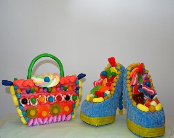 sac et chaussure de femme en bonbon