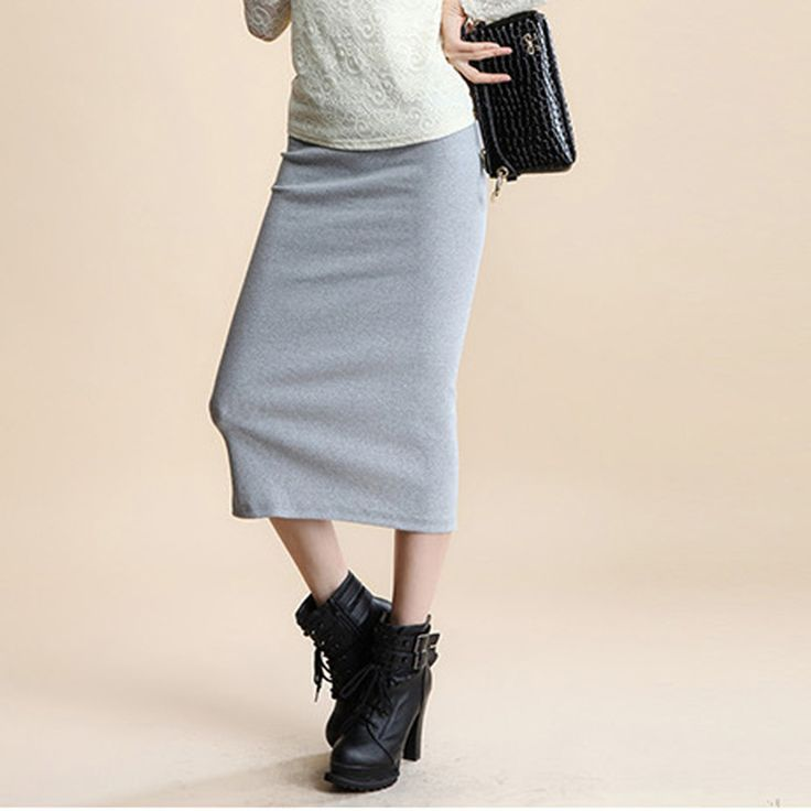 Find More Skirts Information about  A Little Thick 2016 Spring Sexy Chic Pencil Skirts Office Look Natural Waist Mid Calf Solid Skirt Casual Slim Hip Placketing,High Quality pencil skirt shirt,China pencil artist Suppliers, Cheap pencil skirt wedding dress from Comme t'y es belle! on Aliexpress.com