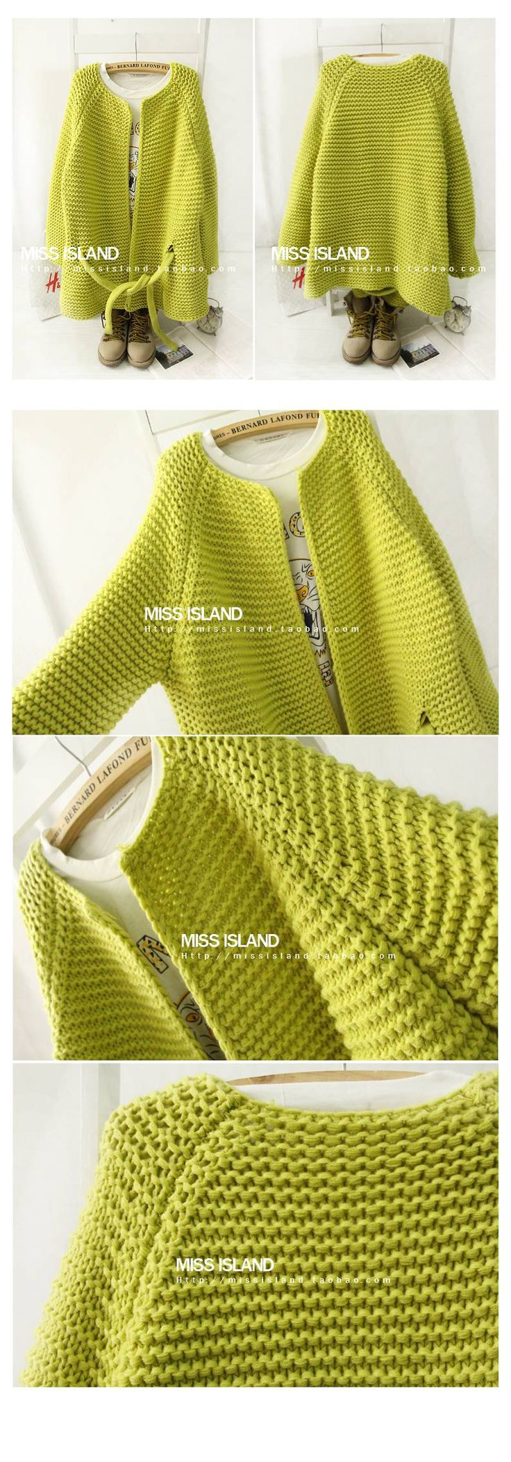 knitted sweater bulky garter stitch
