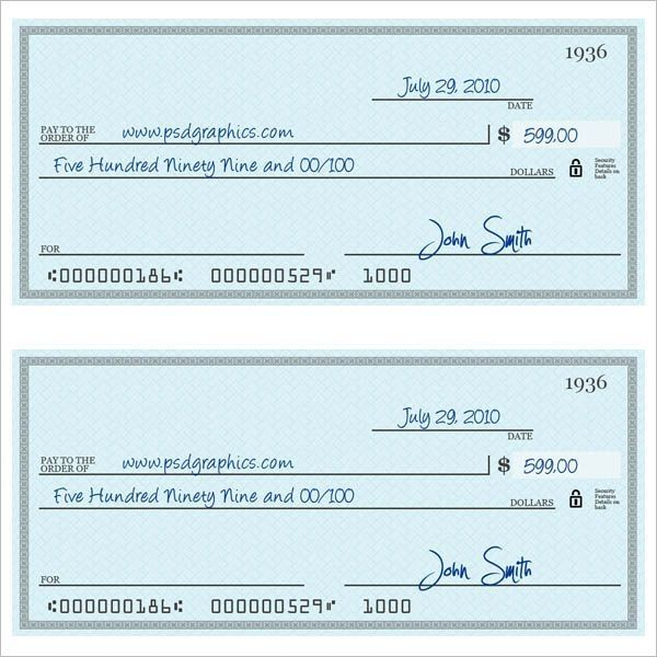 Cheque Templates Free Word Psd Pdf Format Creative Throughout Check Template