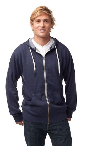 Unisex Heather French Terry Zip Hooded Sweatshirt :: PRM90HTZ Oh la la. What a nice French Terry Hoody!