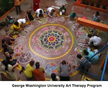 group art therapy, but great group mandala idea that can be implemented for kids...outdoor installation idea with chalk
