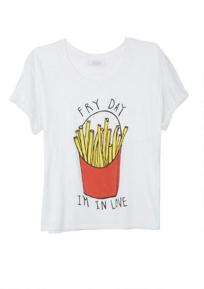 Fry Day Tee - Graphic Tees - Clothes - dELiA*s for @marchellejones