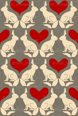 rabbits and hearts