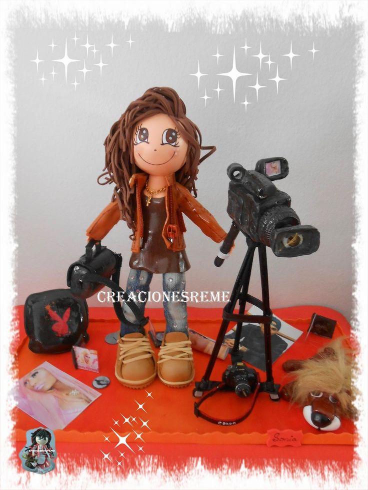 Muñequitas de goma eva Creacionesreme: Muñequita personalizada ,Sonia