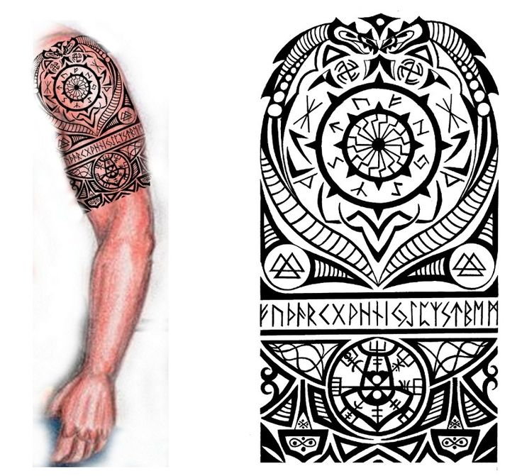 Viking Nordic Tattoo by thehoundofulster.deviantart.com on @deviantART