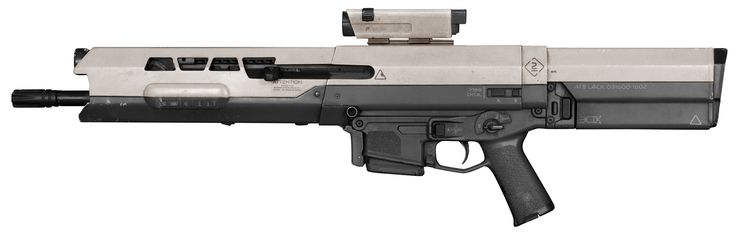 Oblivion Rifle (a Bushmaster ACR housed in a futuristic shell) This is the screen-used firearm carried by Tom Cruise in the film Oblivion. Thanks to James Georgopoulos.