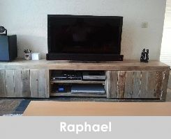Steigerhout tv-meubel Raphael