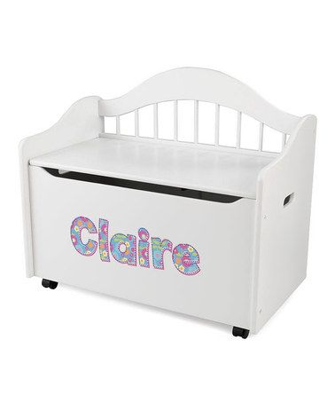 Take a look at this KidKraft White Limited Edition Personalized Toy Box by Very Special: Personalized Toys on #zulily today!