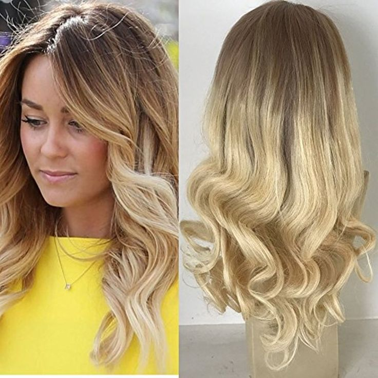 """106.71$  Watch here - http://ali88r.worldwells.pw/go.php?t=32778070675 - """"Full Shine Front Lace Human Hair Wigs Color Blonde Ombre 6 Fading to 613 Lace Frontal Wigs 16""""""""-24"""""""" Body Wave High Quality Wigs"""" 106.71$"""