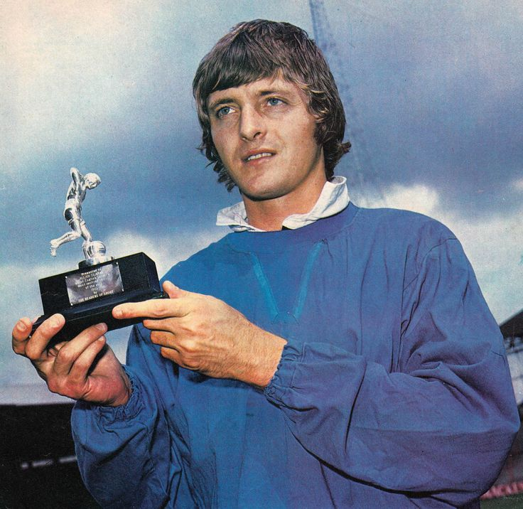 May 1973. Allan Clarke collects Shoot's Most Exciting Player of the Year Award for 1972/73.