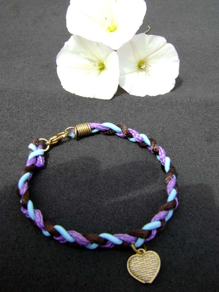 some cords found a purpose in a bracelet...