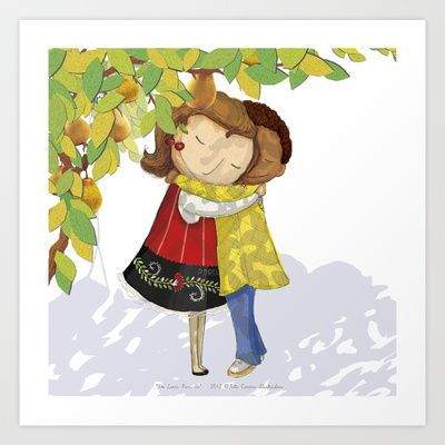 Hug Art Print by Rita Correia Illustrator - $19.00