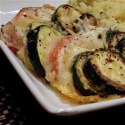 Zucchini e Pomodori Gratinati - Authentic Italian recipe for fresh zucchini.