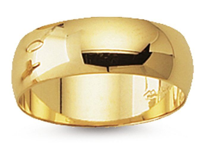 14k yellow gold 6mm wide wedding band ring available in sizes 6 through 12 us by - Target Wedding Rings