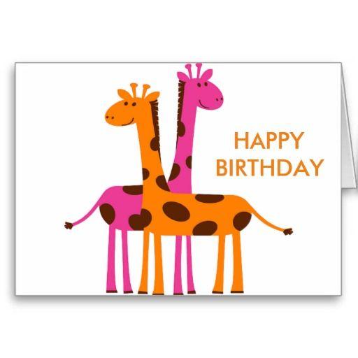 Cartoon Giraffe Greeting Card