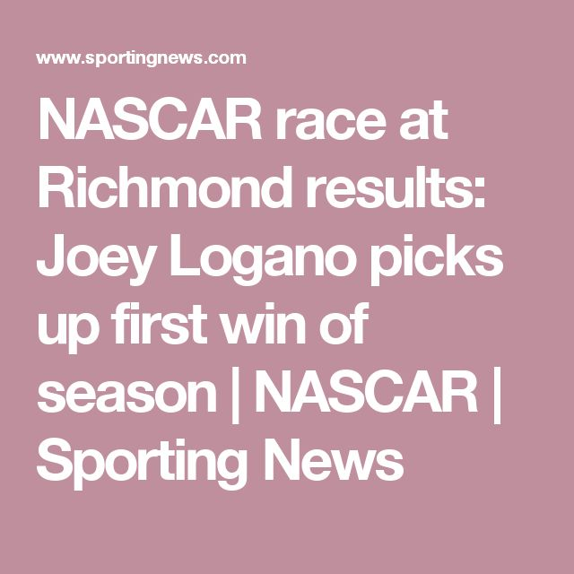 NASCAR race at Richmond results: Joey Logano picks up first win of season | NASCAR | Sporting News