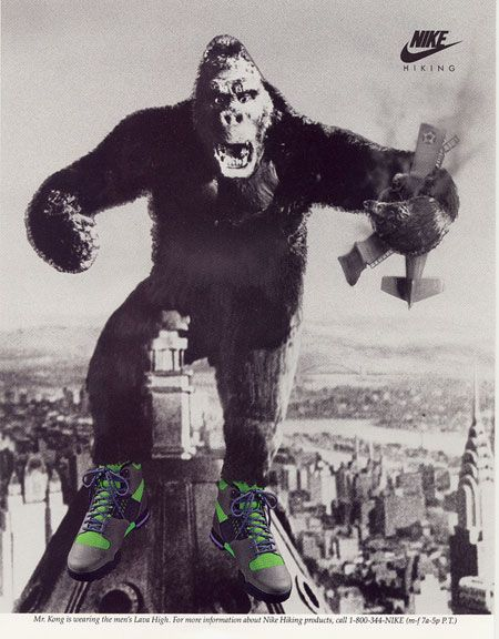 Image result for gorilla wearing nikes