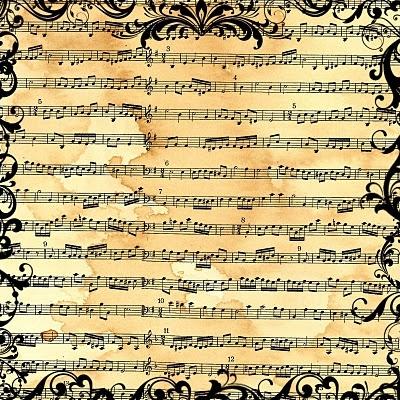 Vintage Sheet Music  - Free Printables digital-images-paper-stuff