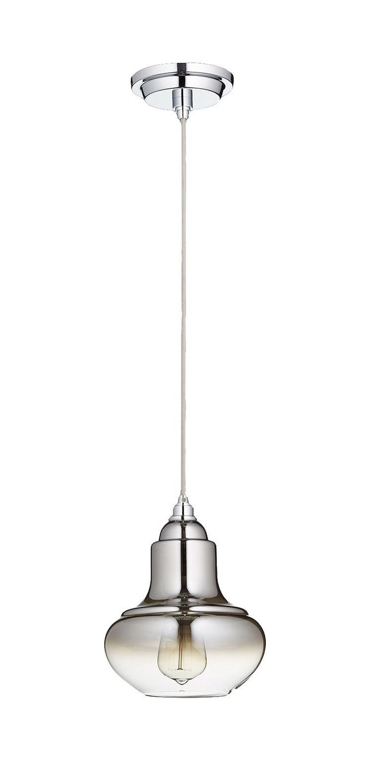 Camille 1 Light Pendant in Chrome design by Cyan Design