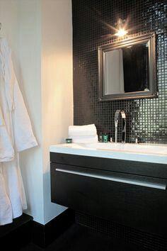 Badkamer zwart  mozaïek