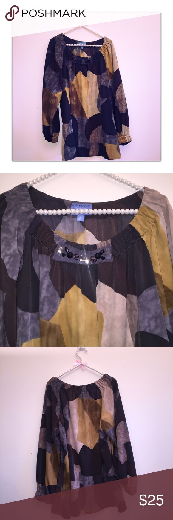 Simply Vera Jewel Top So perfect and in great condition Simply Vera Vera Wang Tops