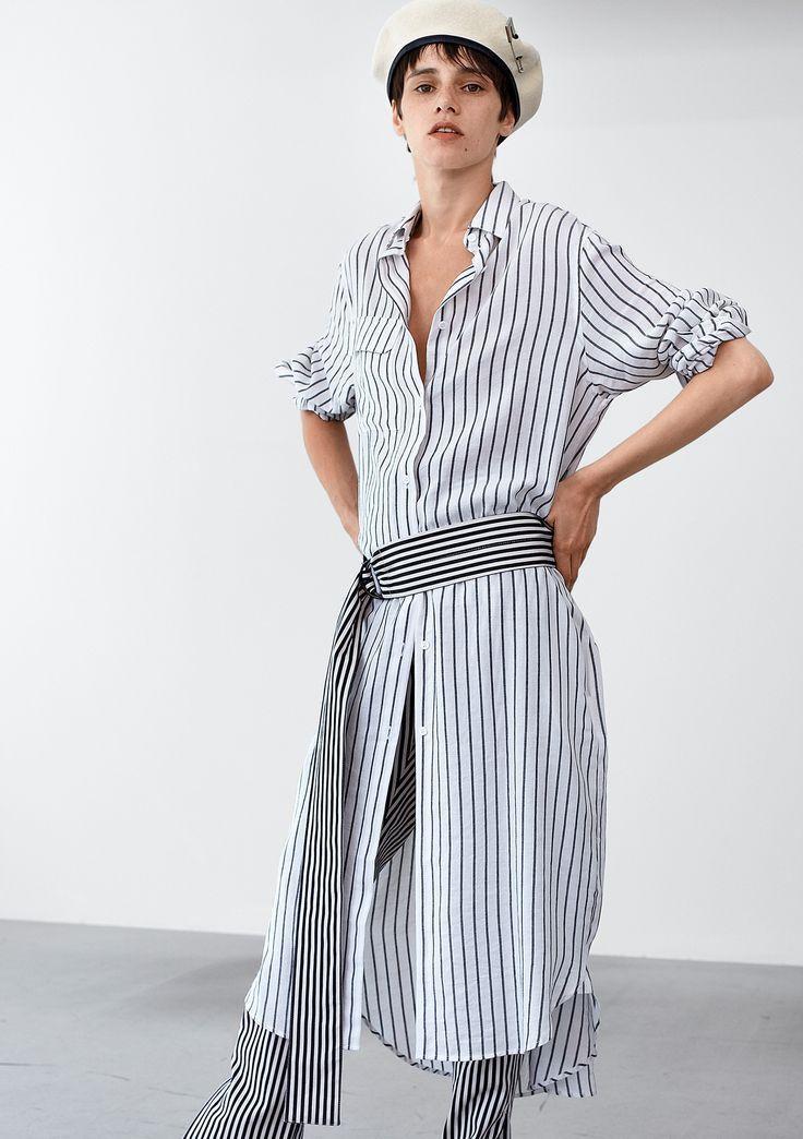 Nox Pocket Shirt - Off White Stripe #HopeStockholm