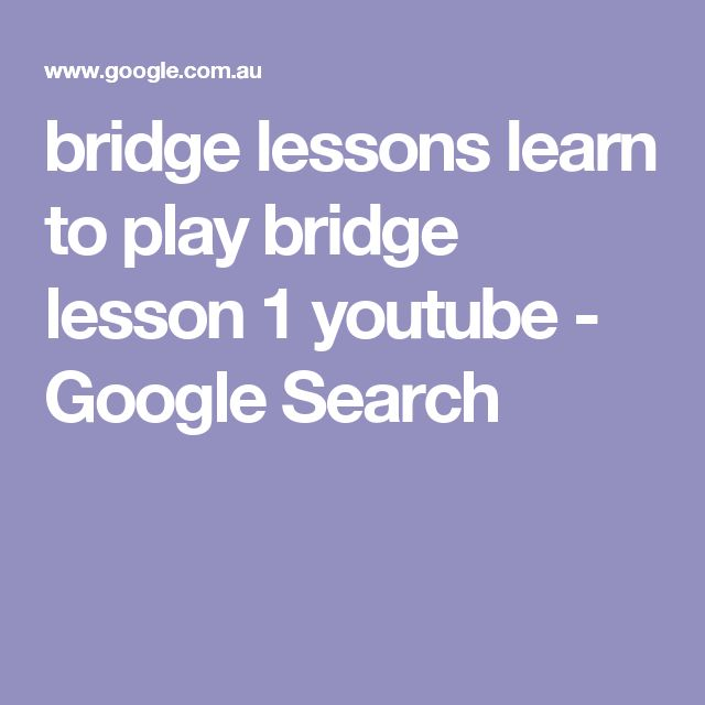 Learn to Play Bridge and Solve Puzzles - A Teacher First