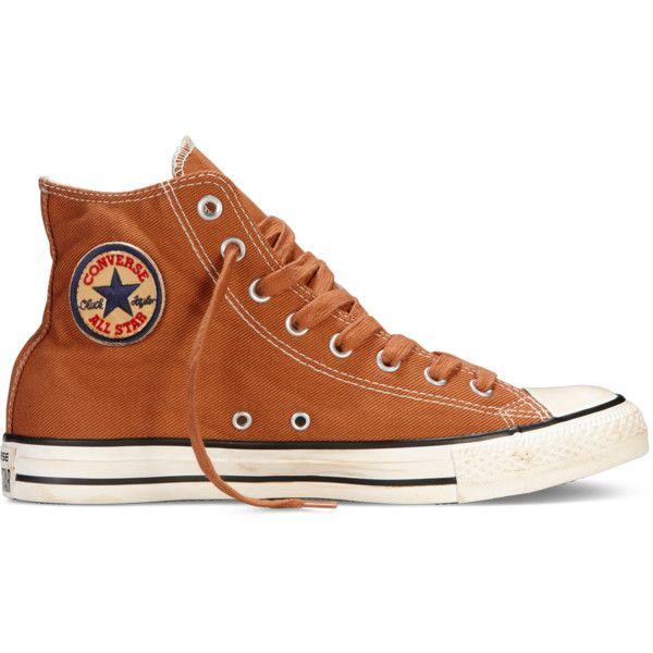 Converse Chuck Taylor Washed Twill – red Sneakers ($50) ❤ liked on Polyvore featuring shoes, sneakers, red, converse footwear, converse sneakers, embroidered shoes, red shoes and red trainers