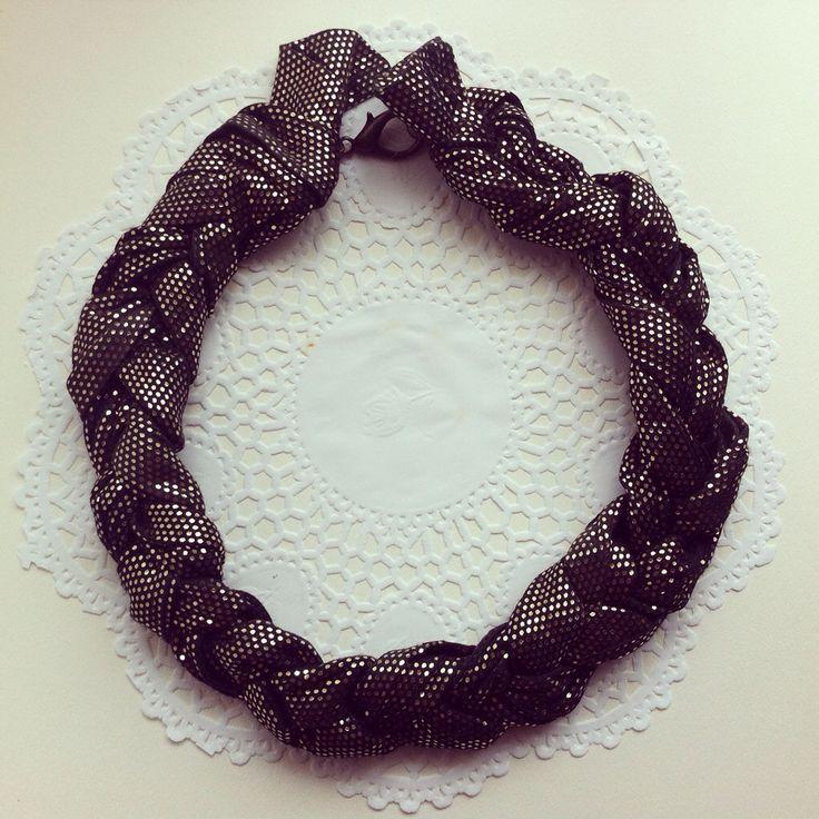 Handmade braided statement necklace